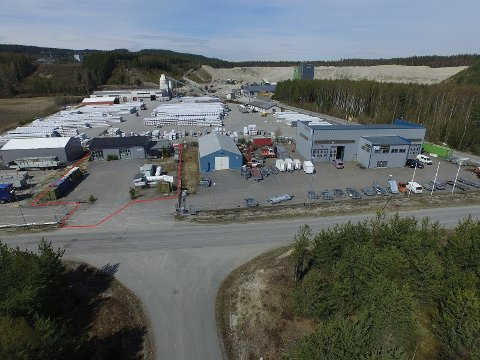 1,6 DEKAR: Eiendommen på Kilemoen er 1,6 dekar stor. Gassanlegget kan kombineres med annen virksomhet på eiendommen.