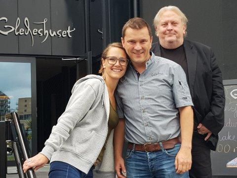 Gleder seg til høsten: Elin Naper, Arne Ivar Johnsrud og Erik Stokke tror det blir en spennende høst på Gledeshuset.