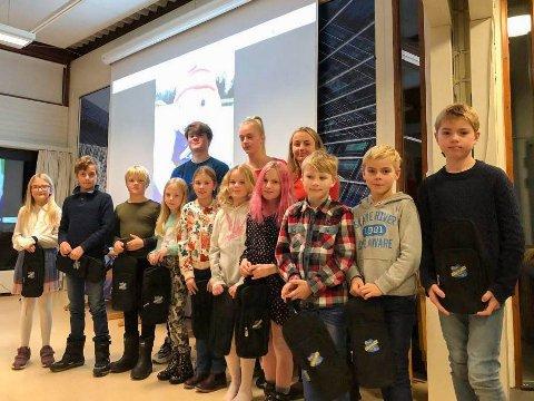 RFIK: Rekruttene som deltok på RFIKs sesongavslutning.