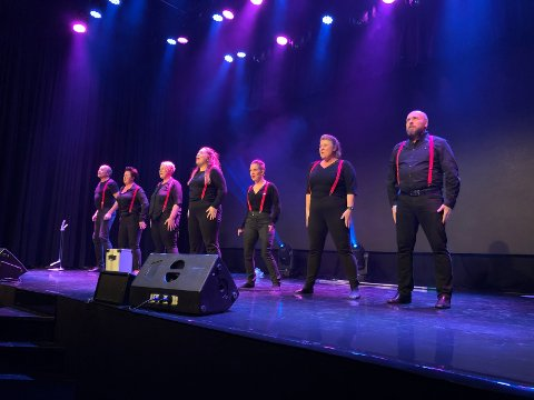 Geir Dahl, Marianne Orre Lund, Tone-Marthe Nyhuus, Othilie Skogmo Lund, Thea Galadriel, Kjersti Ryan Aasekjær og Yngve Johannessen er amatørrevystjerner.