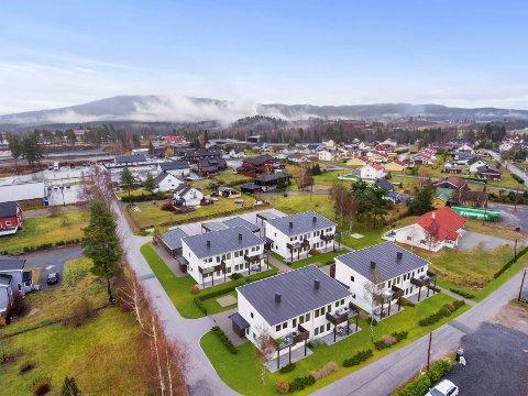 GANGAVSTAND: De nye boligene på Midtmoen får gangavstand til butikk og sentrale tilbud på Sokna.
