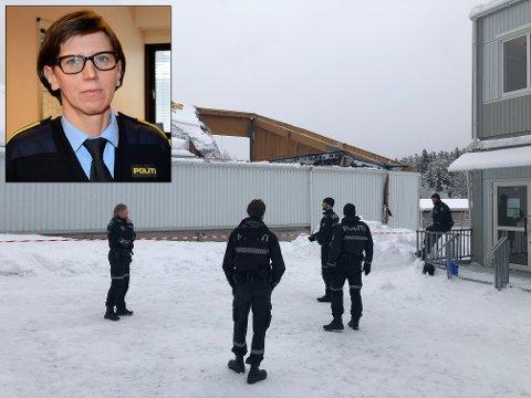 ETTERFORSKET: Politiet har funnet årsaken til at tennishallen kollapset. Det bekrefter etterforskningsleder Inger Væråmoen.