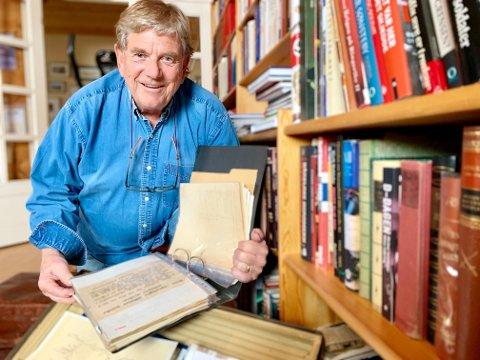 MANGE DOKUMENTER: En koffert full av formelle krigsdokumenter var starten på Cato Bunkholdts bok om Milorg på Hadeland.
