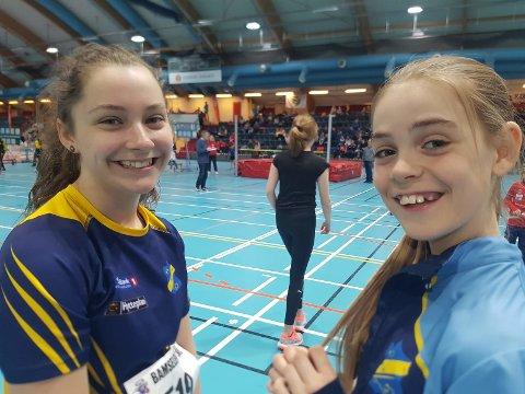 Ella Hansen Rokstad og Anna Birgitte Melbye koste seg i høydekonkurransen