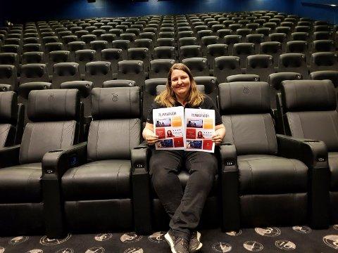 Storsalen: Katrine Wang Svendsen inviterer til filmkveld 16. mai i den store kinosalen.