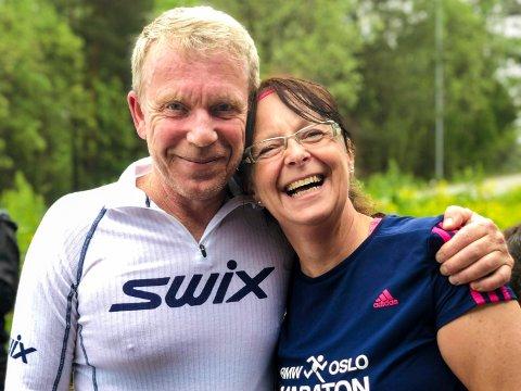 GOD PROGRESJON: Etter 35 år uten løping ble Ola med ut på tur etter forespørsel fra kona Mari. Nå har han deltatt på fem etappetreninger, med god progresjon.