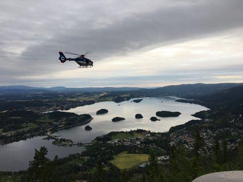Politihelikopter ble satt inn i søket etter turgåeren.