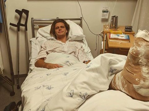 STYGG SKADE:  Daniel Bergerud mistet hele forrige sesong med en skade i venstre fot.