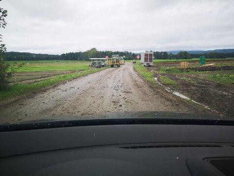 Vei på Røyse.