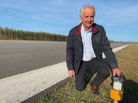 MER ENN KLAR: Ola Tronrud som eier Eggemoen mener strekningen fra Eggemoen og videre mot Hensmoen er det mest lønnsomme veiprosjektet en kan gjennomføre.