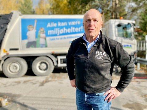 HRA-LEDER: Kjell Olav Kolrud hos HRA venter på en avklaring om gjenvinningsstasjonen i Hole.