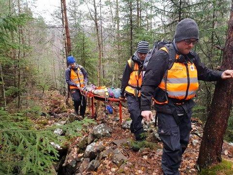 VIKTIG GJENNOMGANG: De lokale hjelpekorpsene skal øve på Norefjell i helgen.