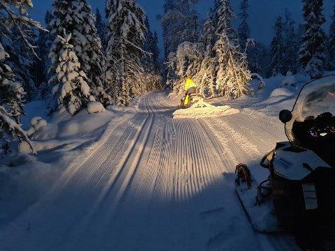 INNBYDENDE: Forholdene i marka er nær ideelle  etter snøfallet.