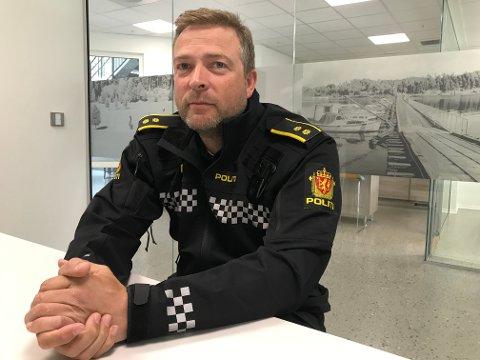 IKKE KJENNING: Politioverbetjent Tommy Lafton opplyser at den narkotatte mannen ikke er en såkalt kjenning av politiet.