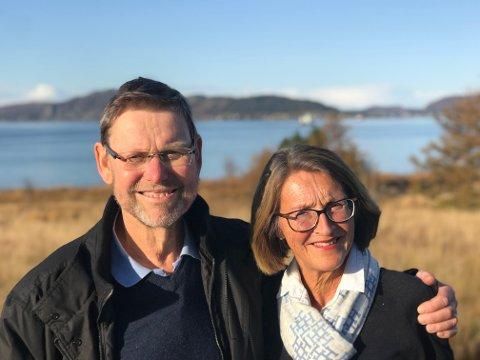 ET PAR: Nils Fredrik Wisløff og Ellen Maria Barra bodde sammen i Asker og hadde vært gift i nesten 43 år.