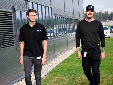 FIKK JOBB: Didrik Bjerkås og Frank Antonsen ble plukket ut blant mer enn 200 søkere.