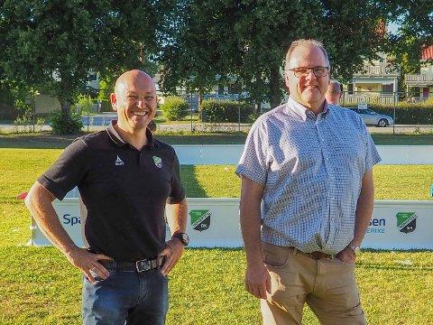 GAVMILD: Runar Krokvik (høyre) ga HBK og Runar Vinjevoll 100 prosent støtte da de søkte om nye baner og nytt utstyr.