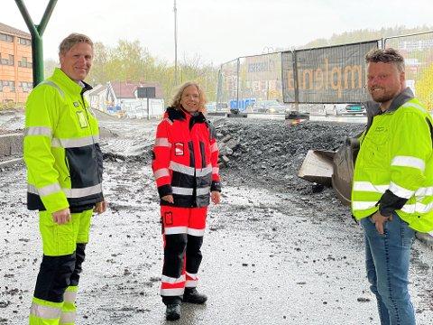 VINN-VINN: Fra venstre Ronny Abelsen (IMIS), May Bente Hiim Sindre (SVV) og Kent-Johnny Rodegård (Brødrene Rodegård). Foto: Statens vegvesen
