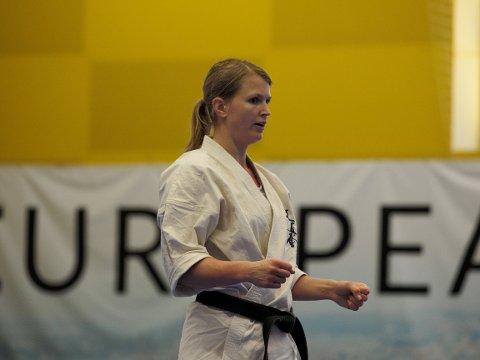 SLO FRA SEG: Marleen Gregusson var skuffet etter helgens EM i karate i Georgia.
