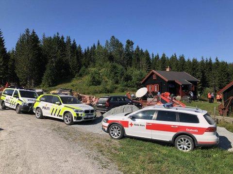 Letemannskapene som lette etter den savna 60-åringen hadde base på Benteplassen på Krokskogen. Mannen ble funnet klokken 17, og skal være i god behold.