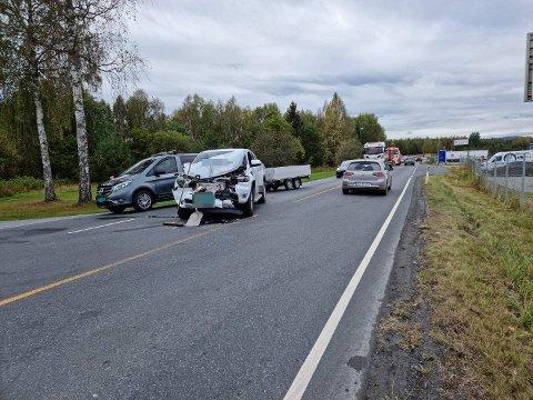 ULUKKE: Nødetatene rykket ut på en trafikkulykke på Risesletta torsdag ettermiddag.