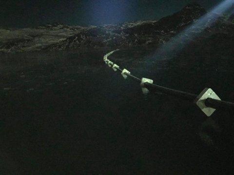 MØRKT: Det haer vært jobbet etter mørkets frembrudd for å bli ferdig før vinteren kom i 1200 meters høyde.