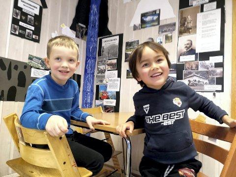 MORO:Eivind Krontveit og Johan Sanden har lært mye om verdensarven på Øverland barnehage.