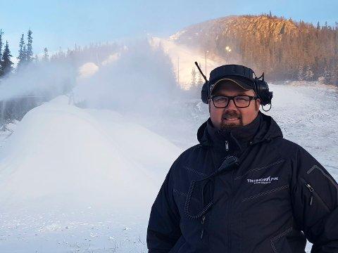 Ansvarlig driftsleder, Bjørn Håvard Tverberg. (foto Gausta Skisenter)