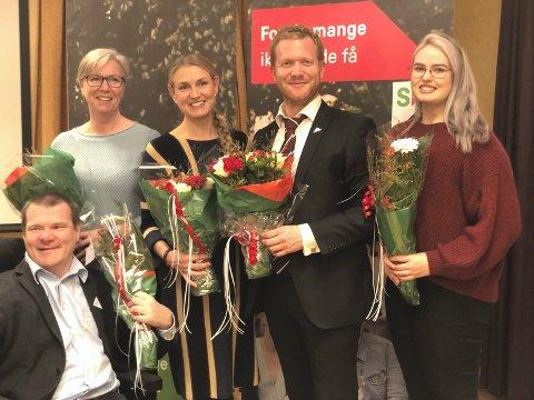 PÅ SV-LISTA: Fra venstre Kristian Sommerseth, Torunn Hovde Kaasa, Grete Wold, Ådne Naper og Vilde Athena Berg. (foto SV)
