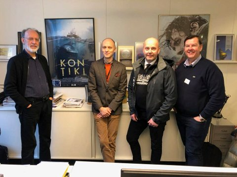Fra møtet med Nordisk Film denne uka.