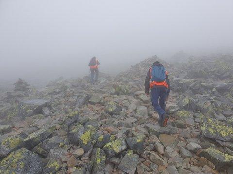 KREVENDE: Gaustatoppen er en krevende tur, og det er området Tinn og Rjukan Røde Kors som oftest må rykke ut til. Været kan endre seg fort, så det er lurt å forberede seg i forkant.