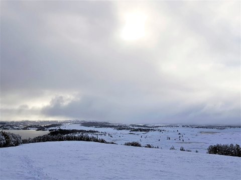 VINTER: Vinteren har meldt sin ankomst på Møsvatn i dag.