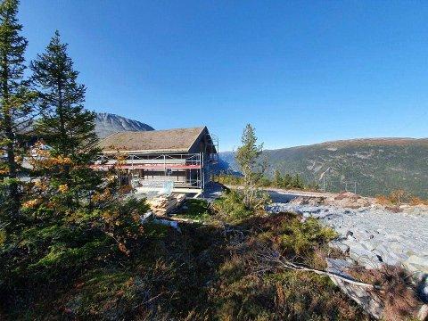 På Kollen er flere hytter i ferd med å reises (alle foto Gaustatoppen Laft)