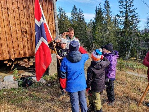 SPEIDERE: Patrulje Falk vant årets flagg- og banner konkurranse.
