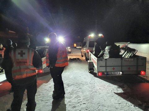 BISTO POLITIET: I kveld bisto Rjukan og Tinn Røde Kors Hjelpekorps politiet med å finne to savnede skiløpere.