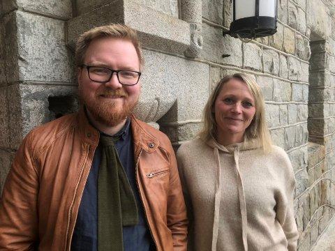 Arkivar Dan Andre Fiskum Velle og fotoarkivar Ingelinn Kårvand