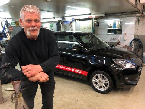 SUKSESS: - Det later til at leiemarkedet ikke har noe tak. På tre år har det økt fra fire til over 40 biler ute samtidig, fastslår Otter Ødegaarden - som har tre ansatte og en lærling i bedriften på Tuven.