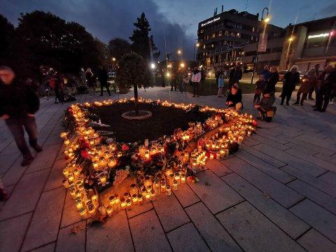 Mange har tent lys på Nymoen torsdag. Slik så det ut i 19-tiden.