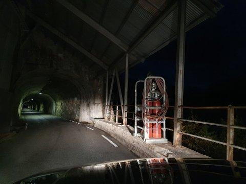 REDD NYTT RAS: Vidar Jensen var redd et nytt ras kunne treffe gassflaskene som står ved tunnelen de arbeider på om natta.