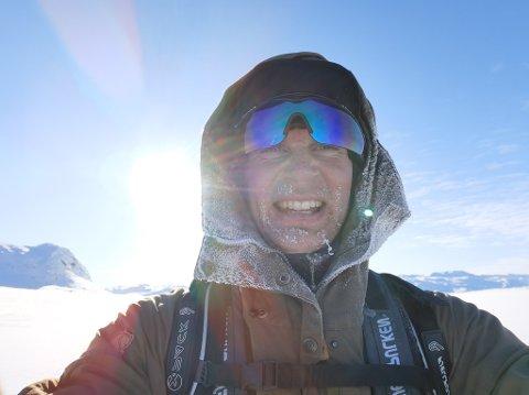 KROPP OG SJEL: Man kjenner man lever når man overnatter i minus 30 grader på Hardangervidda, sier Vebjørn Ryen.