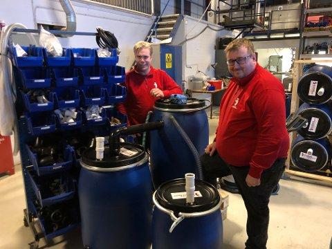 RENSER: Telemark Technologies AS satser på små renseanlegg for tusenvis av hytter som ikke er tilknyttet offentlig eller privat vann- og kloakknett. Torgeir Straand og Hallgeir Ofte synes det nye markedet er både utfordrende og spennende.