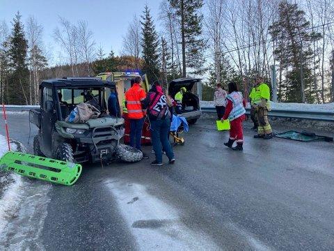 GIKK BRA: Familien til 16-åringen forteller at det går bra etter ulykken på Austbygdebakkan.