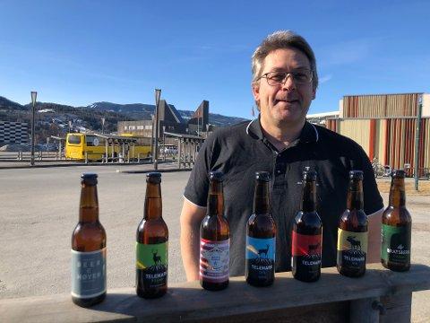 VI ER I GANG: Gründer og styreleder Hans Arne Flåto gleder seg over at det tre år gamle selskapet nå er skikkelig i gang. - Telemark Bryggeri skal bli en bærekraftig bedrift som skal utvikles.