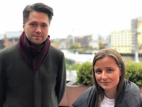 SKUFFET: Bjørn-Kristian Svendsrud (Frp) og Karoline Aarvold (H) er skuffet over fylkestingets vedtak om at kantinene på videregående skole skal drives av fylkeskommunen