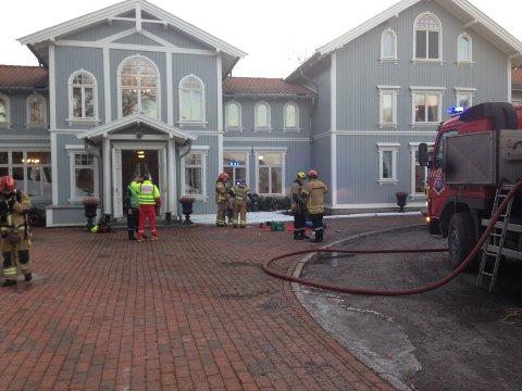 EVAKUERT: Til sammen ble 40 personer evakuert fra hotellet.
