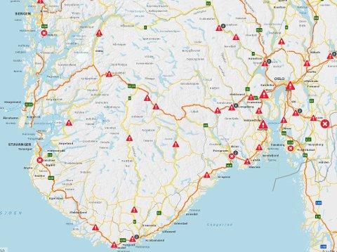 veg kart norge Smaalenenes Avis   Her blir det kø på norske veier i sommer veg kart norge