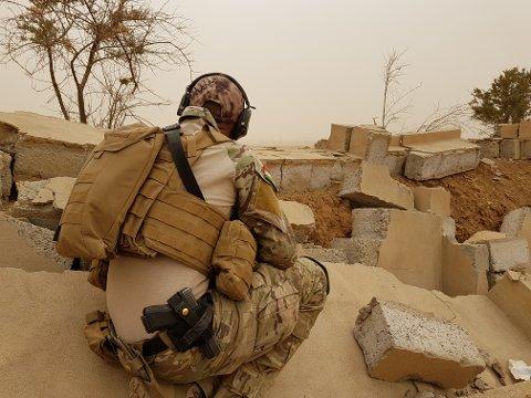 """""""Mike"""" dro til Nord-Irak for å delta i kampen mot IS."""