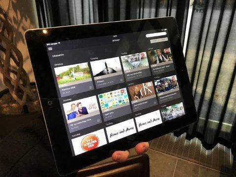 Slik ser iPad-appen ut. FOTO: Magnus Blaker / Side3.no