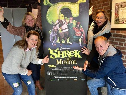 Sandefjord Teaterforening, i samarbeid med Frilynt, hadde Norgespremiere på Shrek-the musical i september i år. Her er styret i Skedsmo Amatørteater på besøk i Sandefjord.