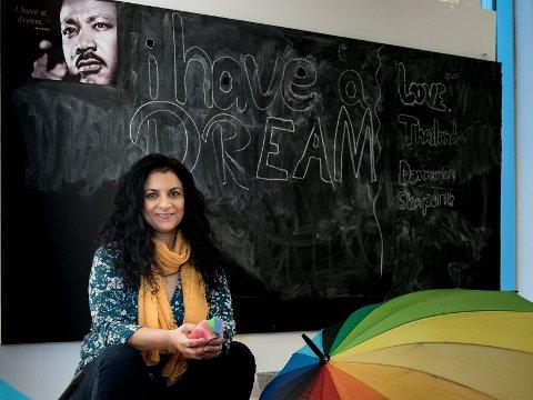 Inspirert av Martin Luther King: Fotograf Iffit Qureshi har spurt norske aktivister om hva Martin Luther King har betydd for dem. Resultatet er en fotoutstilling hvor hun har portrettert en rekke kjente aktivister. foto: vidar Sandnes